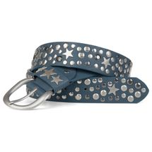 styleBREAKER studded belt with stars in vintage style with genuine leather, shortened 03010010 – Bild 5