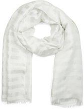 styleBREAKER Schal mit Streifen Punkte Muster und Metallic Fäden, Fransen, Tuch, Damen 01017065 – Bild 3