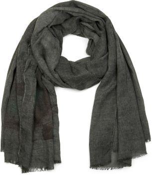 styleBREAKER Schal mit Feder Print im Boho Style, Fransen Tuch, Damen 01017066 – Bild 2