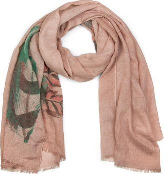 styleBREAKER Schal mit Feder Print im Boho Style, Fransen Tuch, Damen 01017066 – Bild 1