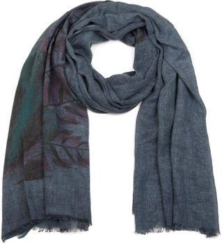 styleBREAKER Schal mit Feder Print im Boho Style, Fransen Tuch, Damen 01017066 – Bild 5