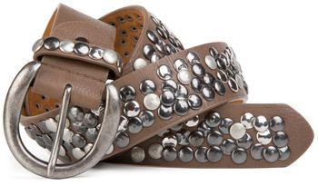 styleBREAKER studded belt with genuine leather in vintage style, shortened 03010024 – Bild 7