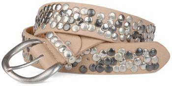 styleBREAKER studded belt with genuine leather in vintage style, shortened 03010024 – Bild 15