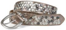 styleBREAKER studded belt with genuine leather in vintage style, shortened 03010024 – Bild 21