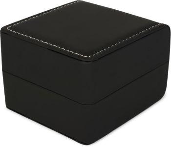 styleBREAKER Geschenkschachtel in glatter Leder Optik mit Ziernaht für Schmuck, Anhänger, Ketten oder Armbänder zum aufklappen, Geschenkbox 05050058 – Bild 6
