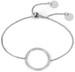styleBREAKER Slider Armband mit Strass besetztem Ring, Venezianerkette, Schiebeverschluss, Schmuck, Damen 05040117