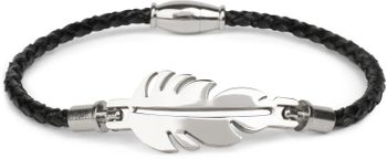 styleBREAKER geflochtenes Armband mit Feder Schmuckelement und Magnetverschluss, Flechtarmband, Schmuck, Damen 05040126 – Bild 1
