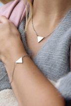 styleBREAKER Edelstahl Armkette mit Dreieck Anhänger, Ankerkette, Karabiner Verschluss, Kette, Schmuck, Damen 05040127 – Bild 9
