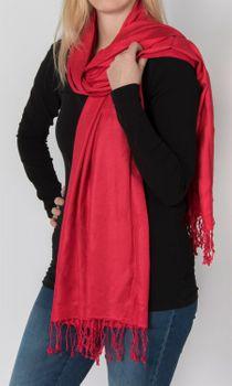 styleBREAKER Stola Schal, Tuch mit Fransen in vielen verschiedenen Farben, Unisex 01012035 – Bild 32