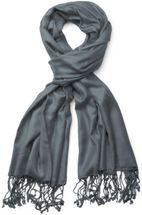 styleBREAKER Stola Schal, Tuch mit Fransen in vielen verschiedenen Farben, Unisex 01012035 – Bild 5