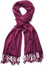 styleBREAKER Stola Schal, Tuch mit Fransen in vielen verschiedenen Farben, Unisex 01012035 – Bild 37