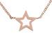 styleBREAKER Edelstahl Halskette mit Stern Anhänger, Ankerkette, Karabiner Verschluss, Kette, Schmuck, Damen 05030040