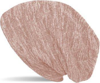 styleBREAKER Feinstrick Beanie Mütze in Melange Optik, Slouch Longbeanie, Unisex 04024128 – Bild 5