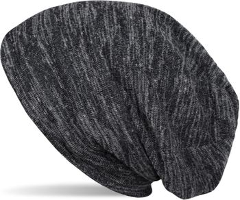 styleBREAKER Feinstrick Beanie Mütze in Melange Optik, Slouch Longbeanie, Unisex 04024128 – Bild 2