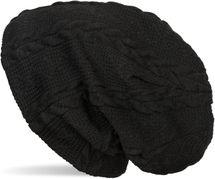 styleBREAKER warme Feinstrick Beanie Mütze mit Zopfmuster und Fleece Innenfutter, Slouch Longbeanie, Unisex 04024131 – Bild 4