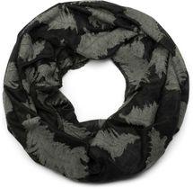 styleBREAKER Loop Schal mit gewebtem Feder Muster, Schlauchschal, Tuch, Unisex 01017068 – Bild 1