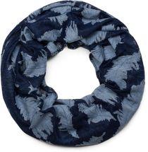 styleBREAKER Loop Schal mit gewebtem Feder Muster, Schlauchschal, Tuch, Unisex 01017068 – Bild 3