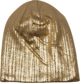 styleBREAKER warme Feinstrick Beanie Mütze mit Metallic Print und Fleece Innenfutter, Slouch Longbeanie, Unisex 04024132 – Bild 30