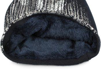 styleBREAKER warme Feinstrick Beanie Mütze mit Metallic Print und Fleece Innenfutter, Slouch Longbeanie, Unisex 04024132 – Bild 55