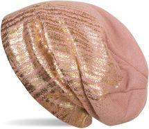 styleBREAKER warme Feinstrick Beanie Mütze mit Metallic Print und Fleece Innenfutter, Slouch Longbeanie, Unisex 04024132 – Bild 36