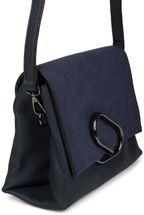 styleBREAKER Umhängetasche mit Umschlag in Wildleder Optik und Metall Klammer, Handtasche, Tasche, Damen 02012209 – Bild 25