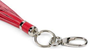 styleBREAKER Schlüsselanhänger aus Echtleder mit Karabiner, Quaste, Fransen, Damen 05050053 – Bild 14