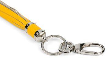 styleBREAKER Schlüsselanhänger aus Echtleder mit Karabiner, Quaste, Fransen, Damen 05050053 – Bild 16