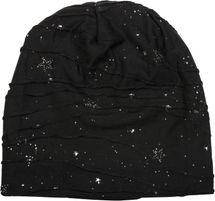 styleBREAKER Beanie Mütze mit Metallic Splashes Sterne und Pailletten, Slouch Longbeanie, Unisex 04024136 – Bild 8
