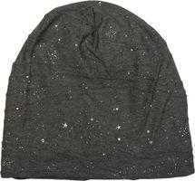 styleBREAKER Beanie Mütze mit Metallic Splashes Sterne und Pailletten, Slouch Longbeanie, Unisex 04024136 – Bild 5
