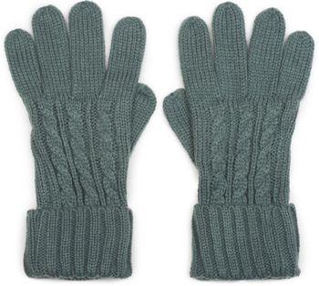 styleBREAKER Damen Handschuhe mit Zopfmuster und doppeltem Bund, warme Strickhandschuhe, Fingerhandschuhe 09010009 – Bild 1