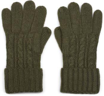 styleBREAKER Damen Handschuhe mit Zopfmuster und doppeltem Bund, warme Strickhandschuhe, Fingerhandschuhe 09010009 – Bild 5