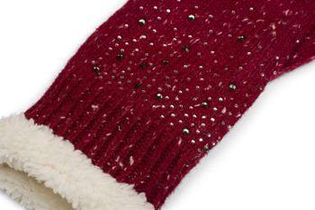 styleBREAKER Damen Handschuhe mit Strass und Fleece, warme Thermo Strickhandschuhe, Fingerhandschuhe, Winter 09010010 – Bild 22