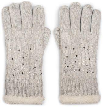 styleBREAKER warme Handschuhe mit Strass und Fleece, Winter Strickhandschuhe, Damen 09010010 – Bild 11