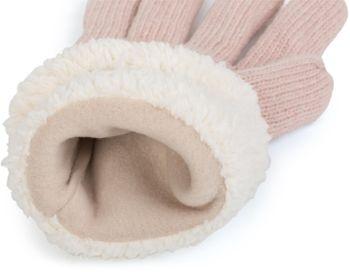 styleBREAKER Damen Handschuhe mit Strass und Fleece, warme Thermo Strickhandschuhe, Fingerhandschuhe, Winter 09010010 – Bild 52