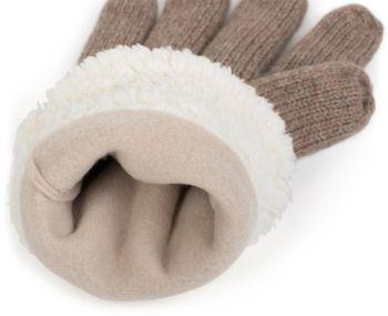 styleBREAKER Damen Handschuhe mit Strass und Fleece, warme Thermo Strickhandschuhe, Fingerhandschuhe, Winter 09010010 – Bild 56
