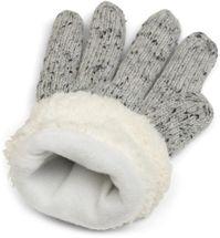 styleBREAKER Damen Handschuhe mit Strass und Fleece, warme Thermo Strickhandschuhe, Fingerhandschuhe, Winter 09010010 – Bild 29