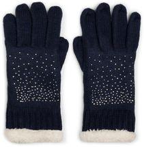 styleBREAKER Damen Handschuhe mit Strass und Fleece, warme Thermo Strickhandschuhe, Fingerhandschuhe, Winter 09010010 – Bild 8