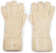 styleBREAKER Damen warme glänzende Handschuhe mit doppeltem Bund, Winter Strickhandschuhe, Fingerhandschuhe, Glitzer 09010011 – Bild 7