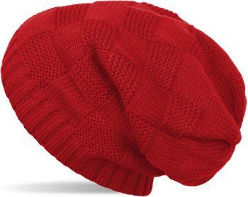 styleBREAKER Strick Beanie Mütze mit Patent Muster, Slouch Longbeanie, Unisex 04024137 – Bild 3
