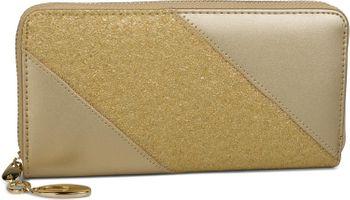 styleBREAKER Geldbörse mit glitzer Pailletten Streifen, umlaufender Reißverschluss, Portemonnaie, Damen 02040089 – Bild 4