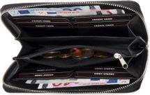 styleBREAKER Geldbörse mit glitzer Pailletten Streifen, umlaufender Reißverschluss, Portemonnaie, Damen 02040089 – Bild 19