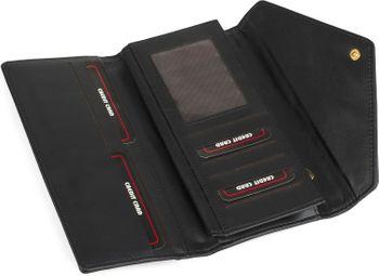 styleBREAKER Portemonnaie im Envelope Kuvert Design mit Druckknopf, Geldbörse, Damen 02040090 – Bild 13