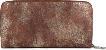 styleBREAKER Geldbörse mit genarbter Oberfläche im Antik Metallic Look, umlaufender Reißverschluss, Portemonnaie, Damen 02040091 – Bild 2
