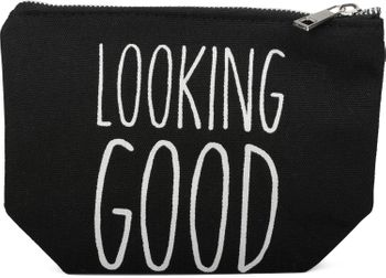 styleBREAKER Statement Beautybag mit 'LOOKING GOOD' Aufdruck, Kosmetiktasche, Make Up Bag, Tasche, Damen 02013005 – Bild 1