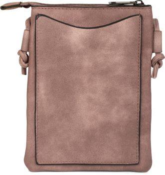 styleBREAKER Mini Bag Umhängetasche mit Zick-Zack Cutout und Nieten, Schultertasche, Handtasche, Tasche, Damen 02012211 – Bild 10