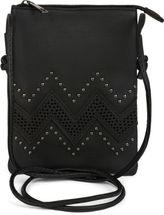 styleBREAKER Mini Bag Umhängetasche mit Zick-Zack Cutout und Nieten, Schultertasche, Handtasche, Tasche, Damen 02012211 – Bild 2