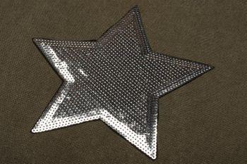 styleBREAKER Einkaufstasche mit Pailletten Stern Applikation, Tragetasche, Canvas Stofftasche, Tasche, Unisex 02012214 – Bild 9
