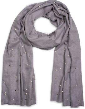 styleBREAKER edler weicher Schal mit Perlen Applikation, Winter Schal, Stola, Tuch, Damen 01017074 – Bild 5