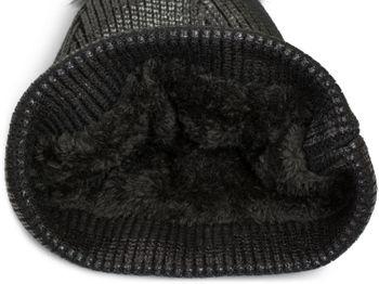 styleBREAKER warme Metallic Strick Bommelmütze mit abnehmbarem Kunstfell Bommel, Winter Fellbommel Mütze, Damen 04024138 – Bild 10
