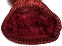 styleBREAKER warme Metallic Strick Bommelmütze mit abnehmbarem Kunstfell Bommel, Winter Fellbommel Mütze, Damen 04024138 – Bild 8